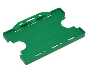DUAL-SIDED OPEN FACE RIGID CARD HOLDER-LANDSCAPE