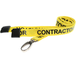"15mm ""CONTRACTOR"" Lanyard with Lobster Clip"