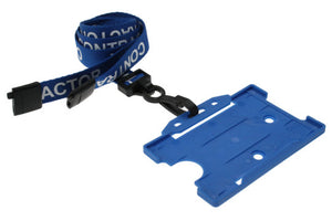 "15mm ""CONTRACTOR"" Lanyard with Plastic J-Hook Clip"