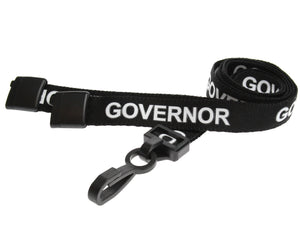 "15mm ""GOVERNOR"" Lanyard WITH Plastic J-Hook"