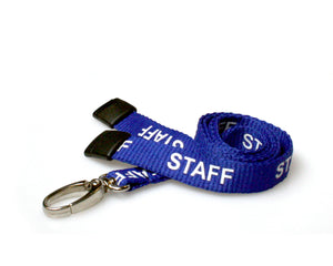 "15mm ""STAFF"" Lanyard with Metal Lobster Claw Clip"