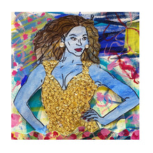 "Load image into Gallery viewer, ""Bey"" 8x8 Framed Original Painting on Paper"