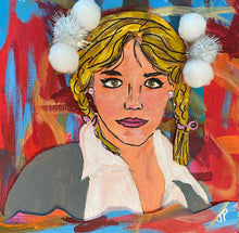 "Load image into Gallery viewer, ""It's Brittney"" - 9x9 Framed Original Painting on Paper"