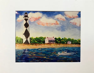 """Hangin at the Cape"" - 8x10 Matted to 11x14 Art Print"