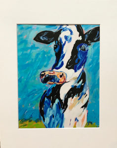 """Skinny Cow"" 8x10 Matted to 11x14 Art Print"