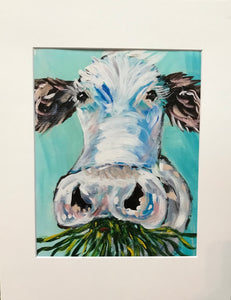 """Grass Fed Beef"" 8x10 Matted to 11x14 Art Print"