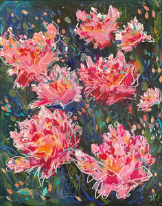 """It's Peony Time"" 20x16 Original Painting on Canvas"