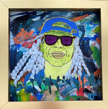 "Load image into Gallery viewer, ""Lil Wayne"" 8x8 Framed Original Painting on Paper"