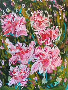 """Peony Party 1"" - 12x9 Original on Paper"