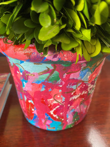 """Janet"" Hand Painted Planter"