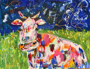 """Prince of the pasture""- 9x12 Original on Paper"