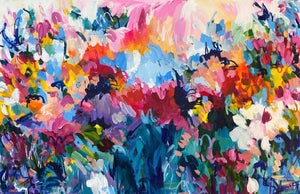 """A garden is your own idea of heaven"" 24x36 Original Painting on Canvas"