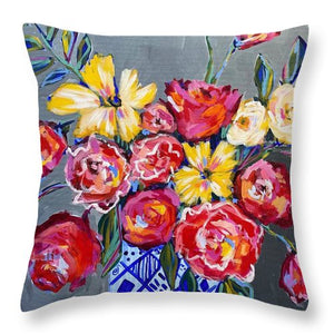 Flowers for Floyd - Throw Pillow