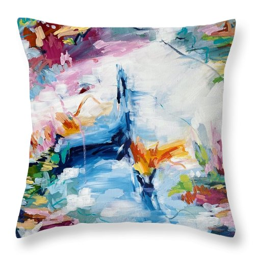 Meditating during quarantine - Throw Pillow