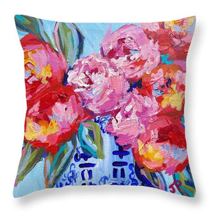 Romance in Bloom - Throw Pillow