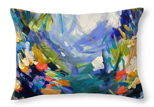 The Bold and the Bluetiful - Throw Pillow