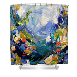 The Bold and the Bluetiful - Shower Curtain