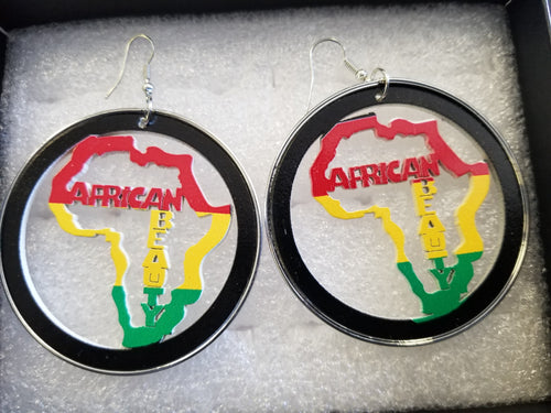 Wooden Africa Earrings