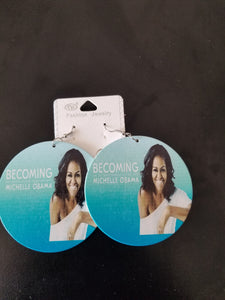 Wooden 1st Lady Earrings