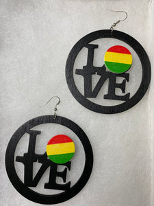 Wooden Love Earrings