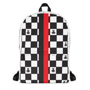 Panda Checker Print Backpack