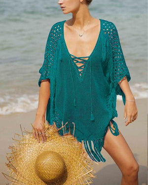 Loose Bikini Swimsuit Half Sleeve Sunscreen Beach Dresses