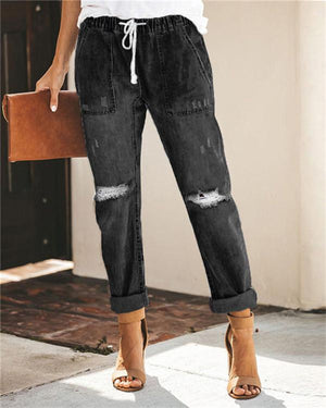 Women's Classic Urban Fashion Denim Bottoms Jeans Skinny Pants