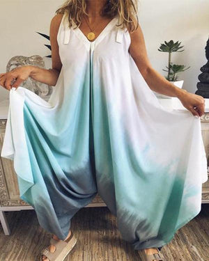 Bohemian Gradient Sleeveless Loose Jumpsuit