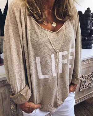 Plus Size Crew Neck Printed Short Sleeve Casual Blouse
