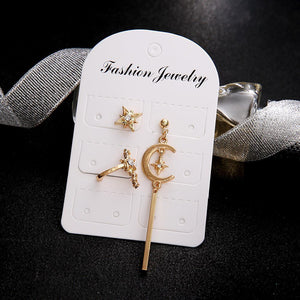 Bohemian Retro Star Moon Earrings Sets