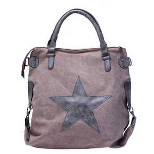 Pentagram Outdoor Casual Canvas Large Capacity Shoulder Bag  Handbag