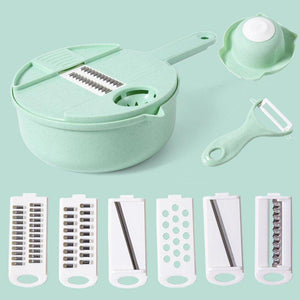 Kitchen Multipurpose Grater 10 in 1 Vegetable Cutter and Shredder