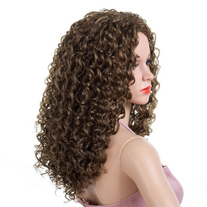 Black Womens Synthetic Ombre Wavy Hair Wigs Cosplay Party Full Wig