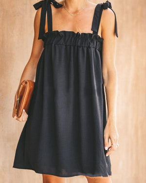 Sexy Sling Solid Comfort A-Line Dress