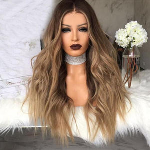 Synthetic Hair Long Wavy Capless Wigs 20 Inches For White Women