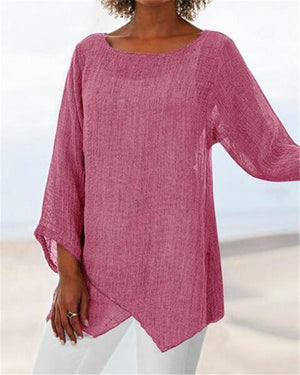 Women's Casual Round Neck Basic Top