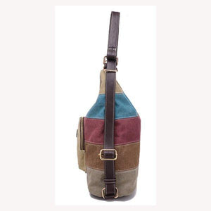 Casual Canvas Colorful Handbag Shoulder Bag Backpack