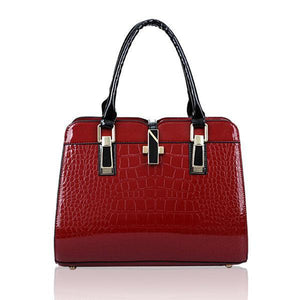 Crocodile Pattern Elegant Handbag Casual Shoulder Bag