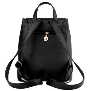 Light Weight Leather Backpack School Bag