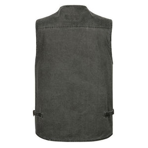 Plus Size Outdoor Fishing Vest Multi Pockets Functional Waistcoats
