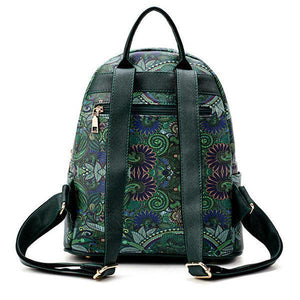 Bohemian Forest Backpack Large Capacity Print Handbag