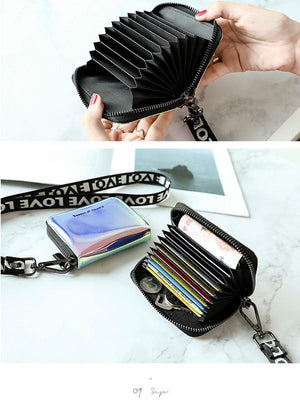 Women's Card Pack Zipper Card Slots Multi-functional Wallet