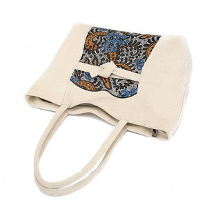 Bohemian Floral Casual Canvas Shoulder Bag Handbag