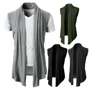 Sleeveless Cardigan Solid Color Sleeveless Casual Cotton Vests