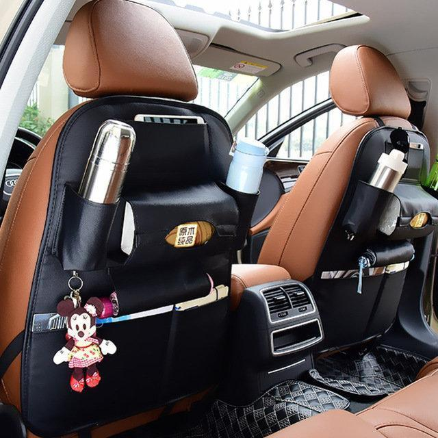 Car Storage Bag >> 5 Styles Leather Car Storage Bag Multi Compartment Car Seat Storage Container Outdoors Hanging Bag