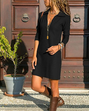 V Neck Women Spring Dresses Shift Daily Casual Dresses