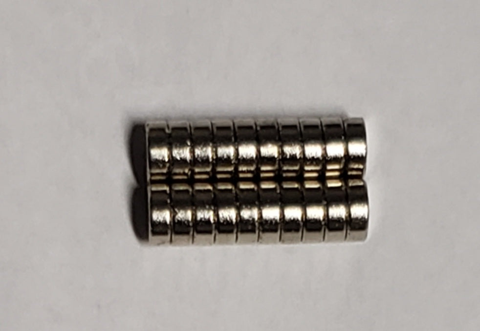 Rare Earth Magnets 5mm x 2mm (qty 20)