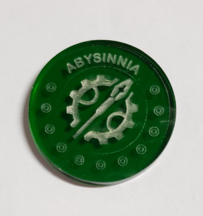 Malifaux compatible abysinnia tokens (Qty 5)