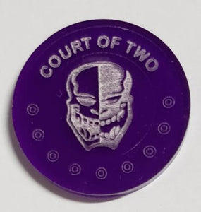 Malifaux compatible court of two tokens (Qty 5)