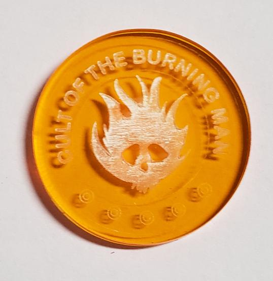 Malifaux compatible cult of the burning man tokens (Qty 5)
